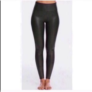 Spanx Faux Leather Leggings L